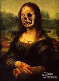 skeletal mona lisa