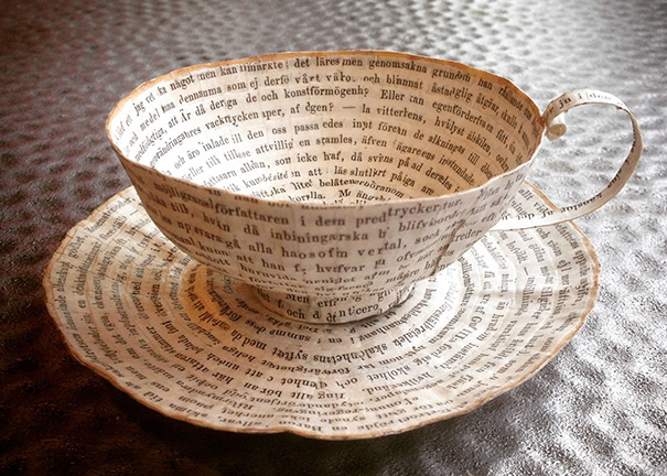 Tea-Cup-Made-With-Old-Book-Cover-Poster.